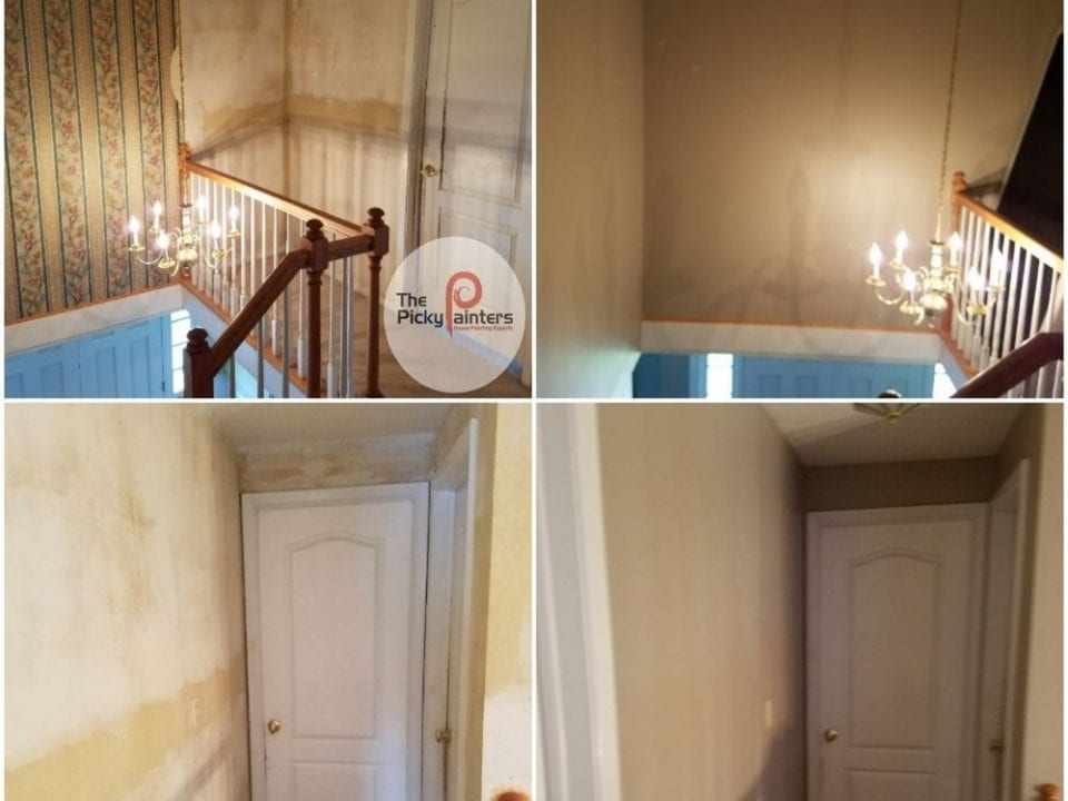 Interior Painting Olmsted Falls, Ohio Wallpaper Removal to smooth painted walls. Ceiling painting, woodwork painting