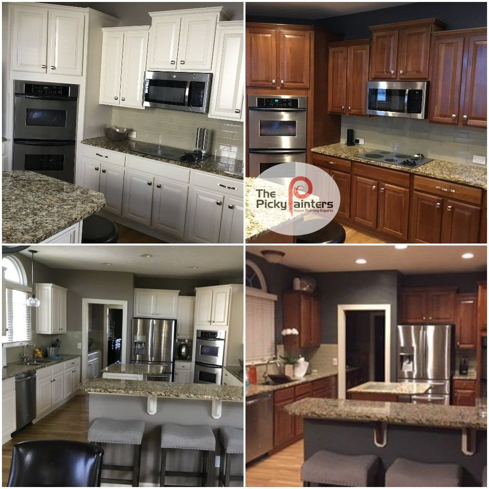 Kitchen cabinet refinishing in Avon, Ohio