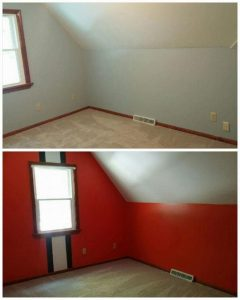 Cleveland Browns color cover up Interior Painting project