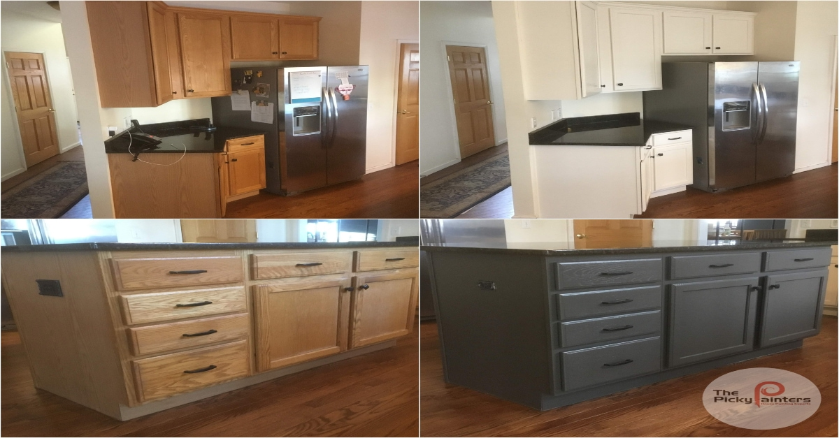 Popular Paint Colors For Kitchen Cabinet Painting In Cleveland Ohio The Picky Painters Berea Oh