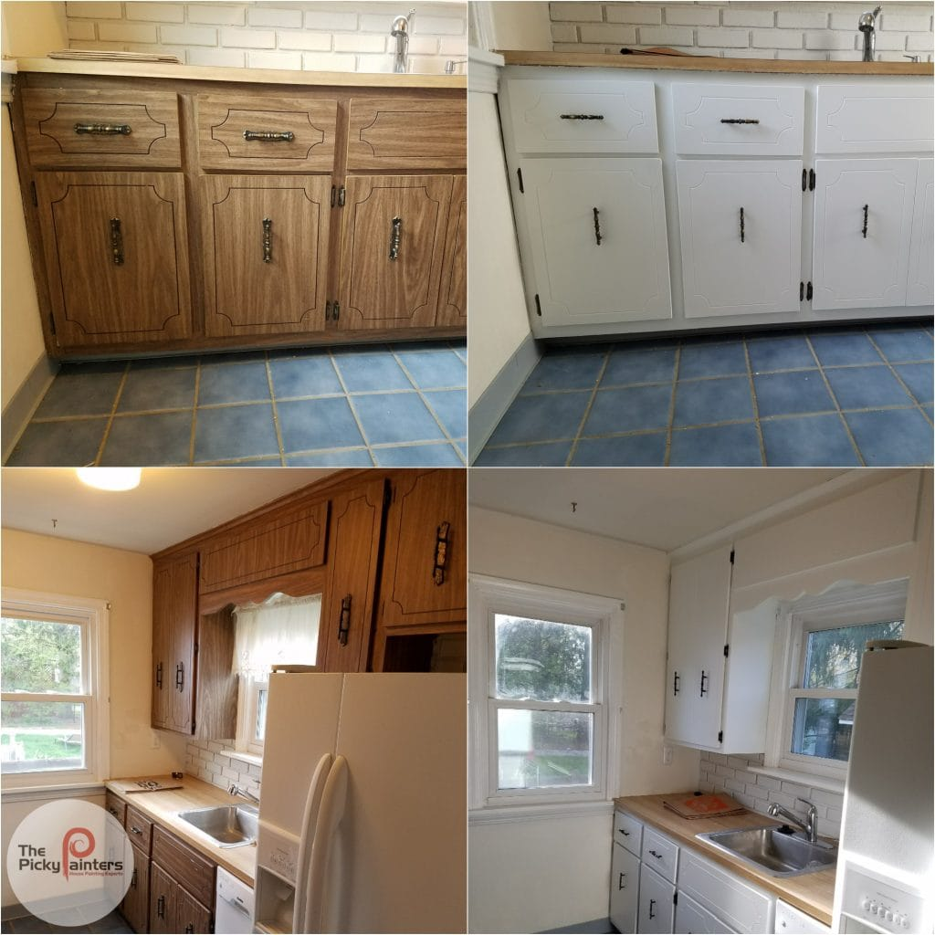 Image of: Can You Paint Laminate Kitchen Cabinets The Picky Painters Berea Oh