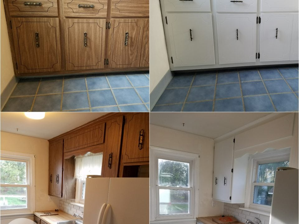 formica laminate cabinet painting in Fairview Park